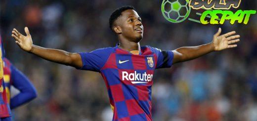 Barcelona Merayakan Rekor Baru Berkat gol Ansu Fati
